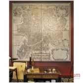 panneaux imprimes carte de rome 1676 amfmc808
