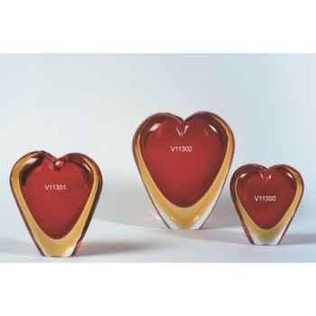 Cœur en verre Formia -V11300