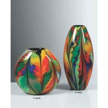 Vase rond en verre Formia multicolore -V14405