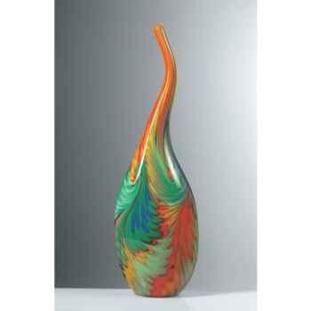 Vase grand en verre Formia multicolore -V14406