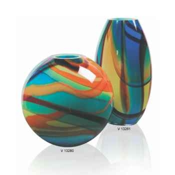 Vase olive en verre Formia -V13281