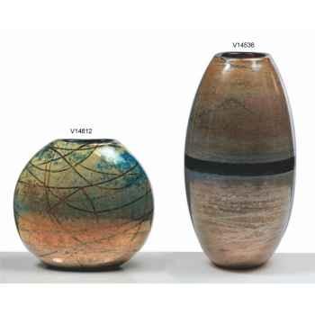 Vase olive en verre Formia -V14536