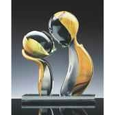 amoureux calcedoine en verre formia v03150