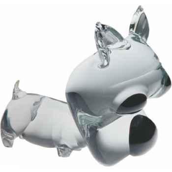 Chien en verre Formia -V02921