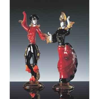 Couple espagnol en verre Formia -V46106