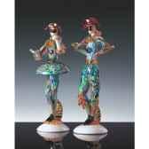 femme arlequin en verre formia multicolore v46108