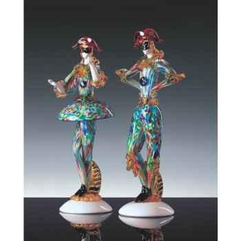 Femme Arlequin en verre Formia multicolore -V46108