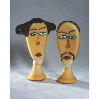 Tête de femme Gheisha en verre Formia -V46190