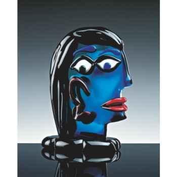 Sculpture tête Pica en verre Formia -V03092