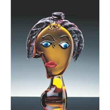 Sculpture tête Pica en verre Formia -V03073S
