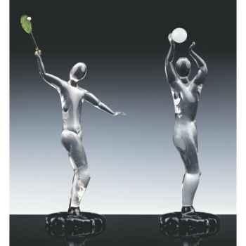 Joueur de tennis en verre Formia -V46114