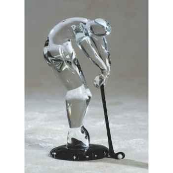 Joueur de golf en verre Formia -V46111
