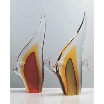 Poisson en verre Formia -V02800