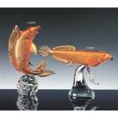 poisson en verre formia couleur ambre v46481