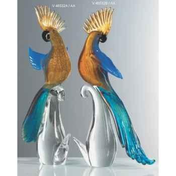 Oiseau tropical en verre Formia -V46532B-AA