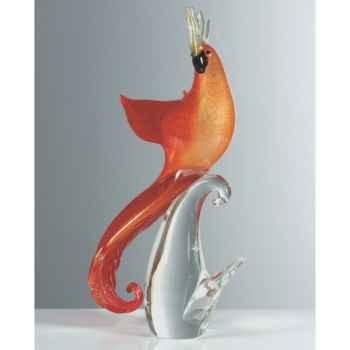 Oiseau tropical en verre Formia -V46530A-RO