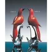 oiseau tropicaen verre formia v44121 b