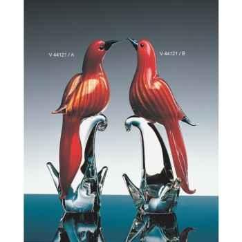 Oiseau tropical en verre Formia -V44121-B