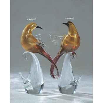 Oiseau tropical en verre Formia -V44059Z