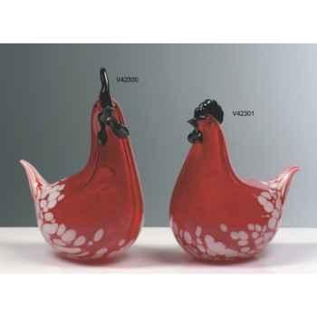 Poule en verre Formia -V42301