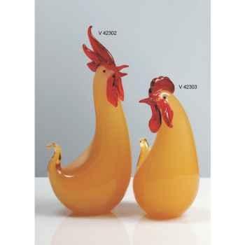 Coq en verre Formia -V42302