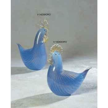 Poule en verre Formia -V14240-ORO