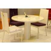 table ronde art mely pied laque am004