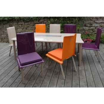 Table rectangulaire Art Mely pieds laqués -AM005
