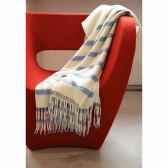 plaid engadin eagle avec franges en laine d agneau 15262