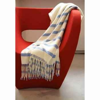 Plaid Engadin Eagle avec franges en laine d'agneau -15262