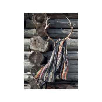 Plaid Cortina Eagle avec franges en laine d'agneau-17235