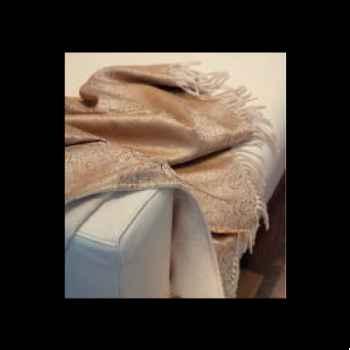 Plaid Como Eagle avec franges en cachemire-11127-195