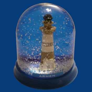 Boule neige Phare Ar-Men -BN006
