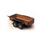 chariot vario avec bache rouge bt185204bache