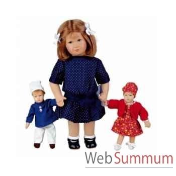 Poupée de collection Käthe Kruse Hanne avec 2 poupées miniatures -32901