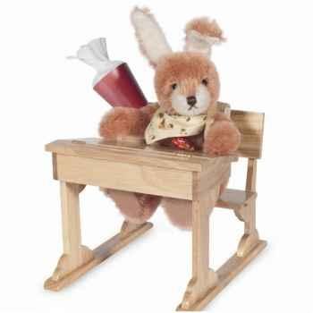 Peluche Hermann Teddy Original® Lapin élève école, en mohair édition limitée -10116 1