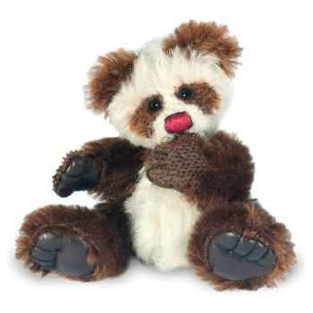 Peluche Hermann Teddy Original® Panda Däumeling brun, en mohair édition limitée -15070 1