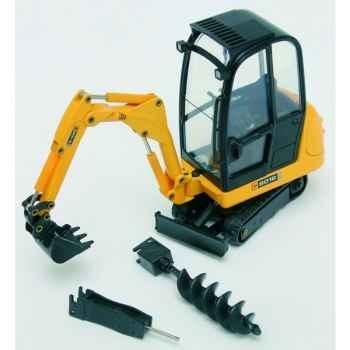 Coffret mini excavatrice JCB 8016 avec accessoires Joal-403