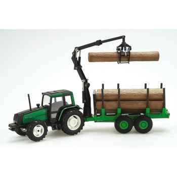 Tracteur Valtra Forestier avec grue Joal-254