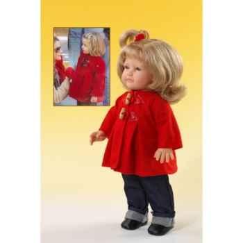 Poupée Léonore en habit d'hiver rouge Paola Reina-4