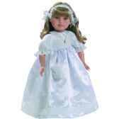 poupee fille europeenne alma blonde paola reina en robe de communion blanche 331c