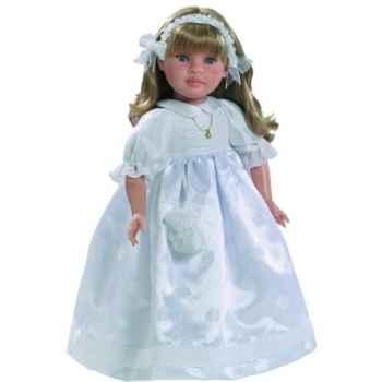 Poupée fille européenne Alma blonde Paola Reina en robe de communion blanche-331C