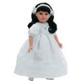 poupee fille europeenne mei brune paola reina en robe de communion blanche 332c
