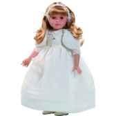 poupee fille europeenne marta blonde paola reina en robe de communion blanche 335c