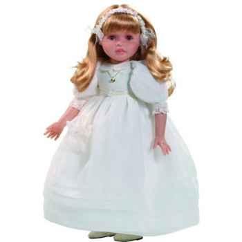 Poupée fille européenne Marta blonde Paola Reina en robe de communion blanche-335C