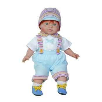 Poupon garçon européen roux Paola Reina pantalon bleu ciel-1357