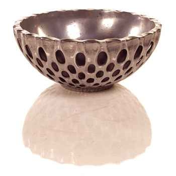 Vases-Modèle Coral Bowl, surface aluminium-bs3439alu