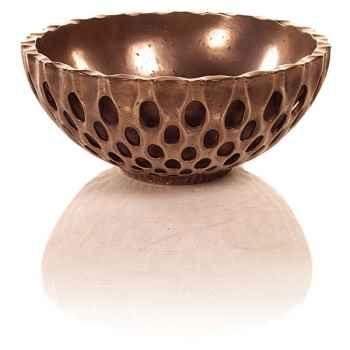 Vases-Modèle Coral Bowl, surface bronze nouveau-bs3439nb/brown