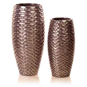 Vases-Modèle Flamenco Vase Small, surface aluminium-bs3440alu