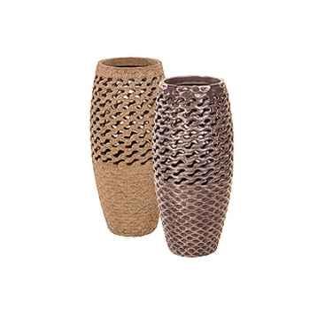 Vases-Modèle Coral Vase, surface bronze nouveau-bs3447nb